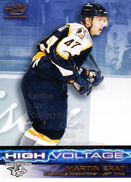 2001-02 Pacific High Voltage #6 Martin Erat<br/>8 In Stock - $2.00 each - <a href=https://centericecollectibles.foxycart.com/cart?name=2001-02%20Pacific%20High%20Voltage%20%236%20Martin%20Erat...&quantity_max=8&price=$2.00&code=226030 class=foxycart> Buy it now! </a>