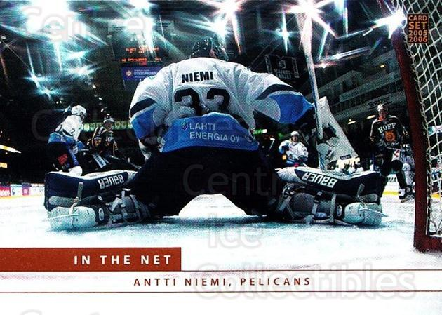 2005-06 Finnish Cardset In The Net #4 Antti Niemi<br/>3 In Stock - $3.00 each - <a href=https://centericecollectibles.foxycart.com/cart?name=2005-06%20Finnish%20Cardset%20In%20The%20Net%20%234%20Antti%20Niemi...&quantity_max=3&price=$3.00&code=226111 class=foxycart> Buy it now! </a>