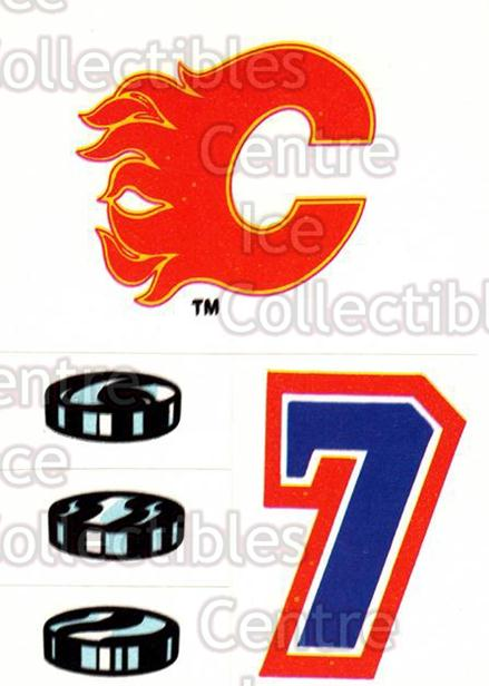 1987-88 Topps Stickers Insert #18 Calgary Flames<br/>4 In Stock - $1.00 each - <a href=https://centericecollectibles.foxycart.com/cart?name=1987-88%20Topps%20Stickers%20Insert%20%2318%20Calgary%20Flames...&price=$1.00&code=22616 class=foxycart> Buy it now! </a>