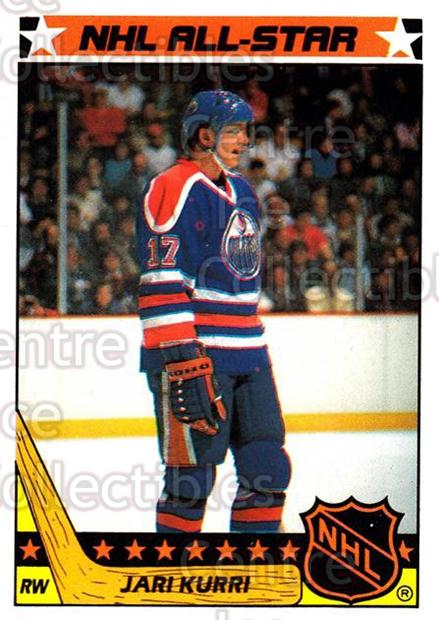 1987-88 Topps Stickers Insert #4 Jari Kurri<br/>3 In Stock - $2.00 each - <a href=https://centericecollectibles.foxycart.com/cart?name=1987-88%20Topps%20Stickers%20Insert%20%234%20Jari%20Kurri...&quantity_max=3&price=$2.00&code=22632 class=foxycart> Buy it now! </a>