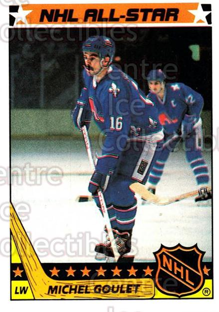 1987-88 Topps Stickers Insert #6 Michel Goulet<br/>4 In Stock - $1.00 each - <a href=https://centericecollectibles.foxycart.com/cart?name=1987-88%20Topps%20Stickers%20Insert%20%236%20Michel%20Goulet...&quantity_max=4&price=$1.00&code=22633 class=foxycart> Buy it now! </a>