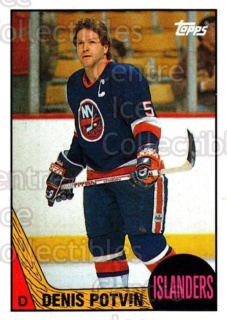 1987-88 Topps #1 Denis Potvin<br/>8 In Stock - $2.00 each - <a href=https://centericecollectibles.foxycart.com/cart?name=1987-88%20Topps%20%231%20Denis%20Potvin...&quantity_max=8&price=$2.00&code=22637 class=foxycart> Buy it now! </a>