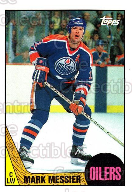 1987-88 Topps #112 Mark Messier<br/>2 In Stock - $2.00 each - <a href=https://centericecollectibles.foxycart.com/cart?name=1987-88%20Topps%20%23112%20Mark%20Messier...&quantity_max=2&price=$2.00&code=22651 class=foxycart> Buy it now! </a>