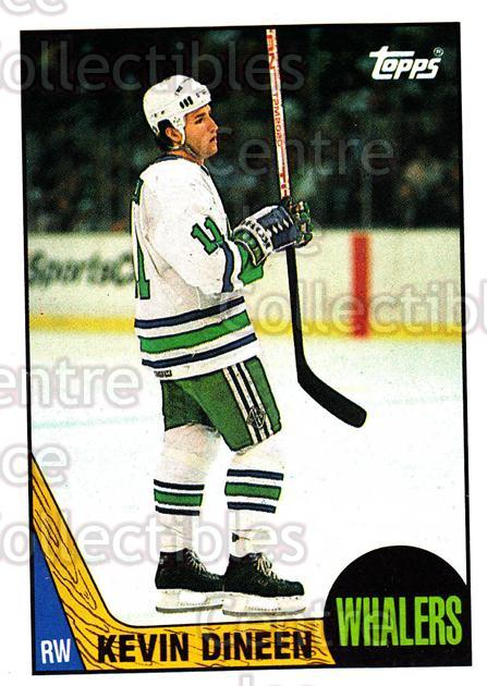 1987-88 Topps #124 Kevin Dineen<br/>6 In Stock - $1.00 each - <a href=https://centericecollectibles.foxycart.com/cart?name=1987-88%20Topps%20%23124%20Kevin%20Dineen...&quantity_max=6&price=$1.00&code=22663 class=foxycart> Buy it now! </a>