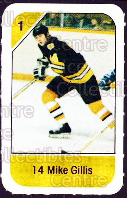 1982-83 Post Cereal #6 Mike Gillis<br/>7 In Stock - $2.00 each - <a href=https://centericecollectibles.foxycart.com/cart?name=1982-83%20Post%20Cereal%20%236%20Mike%20Gillis...&quantity_max=7&price=$2.00&code=226789 class=foxycart> Buy it now! </a>