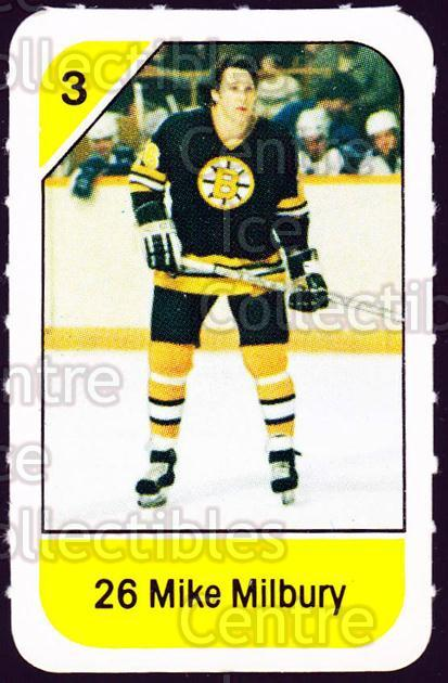 1982-83 Post Cereal #12 Mike Milbury<br/>6 In Stock - $2.00 each - <a href=https://centericecollectibles.foxycart.com/cart?name=1982-83%20Post%20Cereal%20%2312%20Mike%20Milbury...&quantity_max=6&price=$2.00&code=226795 class=foxycart> Buy it now! </a>