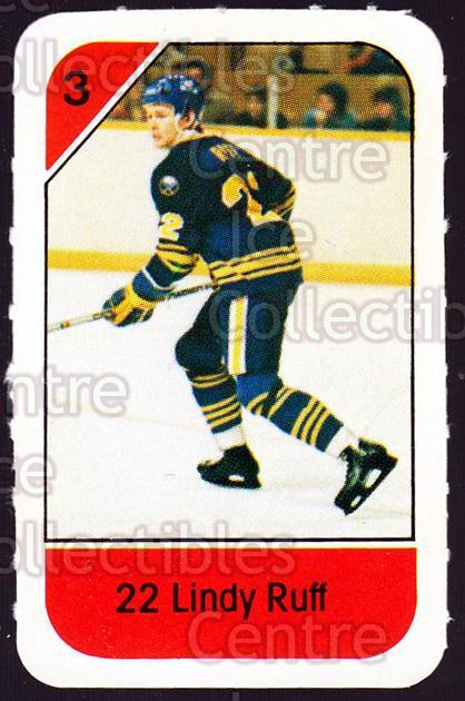 1982-83 Post Cereal #30 Lindy Ruff<br/>4 In Stock - $2.00 each - <a href=https://centericecollectibles.foxycart.com/cart?name=1982-83%20Post%20Cereal%20%2330%20Lindy%20Ruff...&quantity_max=4&price=$2.00&code=226813 class=foxycart> Buy it now! </a>
