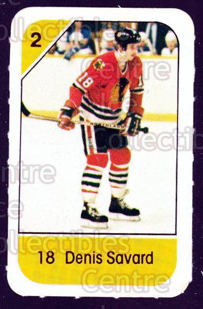 1982-83 Post Cereal #57 Denis Savard<br/>6 In Stock - $2.00 each - <a href=https://centericecollectibles.foxycart.com/cart?name=1982-83%20Post%20Cereal%20%2357%20Denis%20Savard...&quantity_max=6&price=$2.00&code=226840 class=foxycart> Buy it now! </a>
