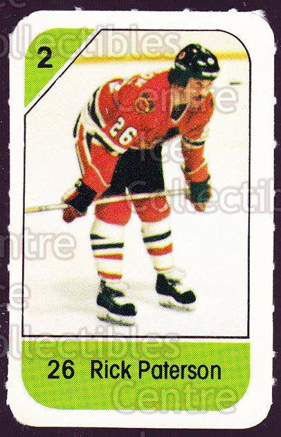 1982-83 Post Cereal #62 Rick Paterson<br/>6 In Stock - $2.00 each - <a href=https://centericecollectibles.foxycart.com/cart?name=1982-83%20Post%20Cereal%20%2362%20Rick%20Paterson...&quantity_max=6&price=$2.00&code=226845 class=foxycart> Buy it now! </a>