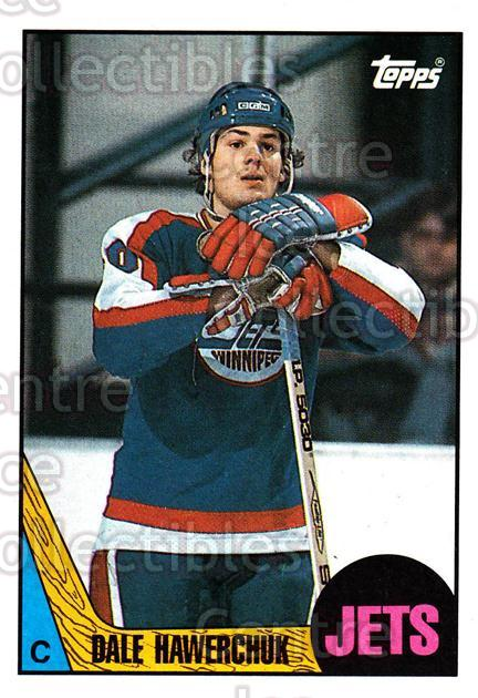 1987-88 Topps #149 Dale Hawerchuk<br/>7 In Stock - $1.00 each - <a href=https://centericecollectibles.foxycart.com/cart?name=1987-88%20Topps%20%23149%20Dale%20Hawerchuk...&quantity_max=7&price=$1.00&code=22688 class=foxycart> Buy it now! </a>