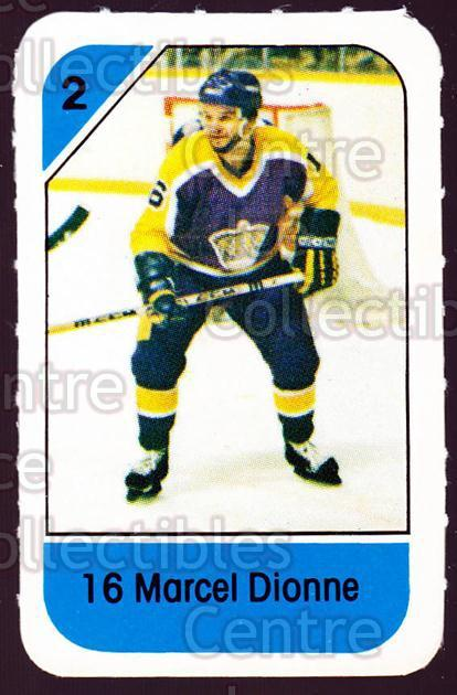 1982-83 Post Cereal #119 Marcel Dionne<br/>2 In Stock - $2.00 each - <a href=https://centericecollectibles.foxycart.com/cart?name=1982-83%20Post%20Cereal%20%23119%20Marcel%20Dionne...&quantity_max=2&price=$2.00&code=226901 class=foxycart> Buy it now! </a>