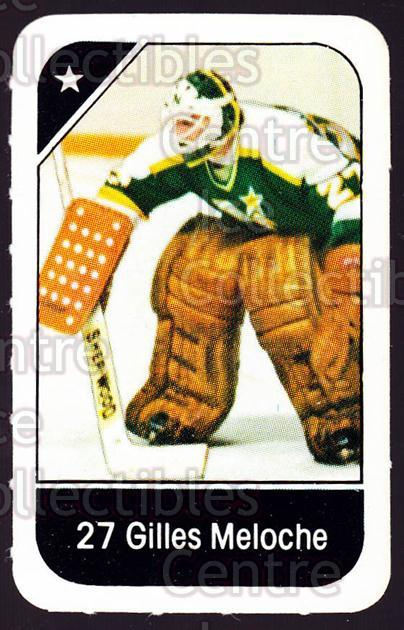 1982-83 Post Cereal #143 Gilles Meloche<br/>3 In Stock - $2.00 each - <a href=https://centericecollectibles.foxycart.com/cart?name=1982-83%20Post%20Cereal%20%23143%20Gilles%20Meloche...&quantity_max=3&price=$2.00&code=226925 class=foxycart> Buy it now! </a>