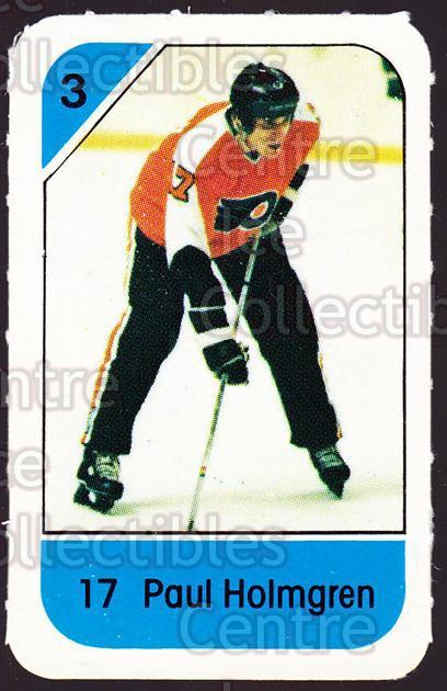1982-83 Post Cereal #218 Paul Holmgren<br/>4 In Stock - $2.00 each - <a href=https://centericecollectibles.foxycart.com/cart?name=1982-83%20Post%20Cereal%20%23218%20Paul%20Holmgren...&quantity_max=4&price=$2.00&code=227000 class=foxycart> Buy it now! </a>