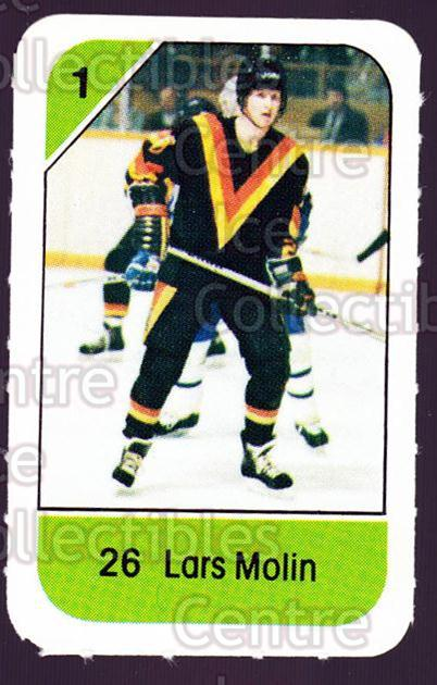 1982-83 Post Cereal #301 Lars Molin<br/>3 In Stock - $2.00 each - <a href=https://centericecollectibles.foxycart.com/cart?name=1982-83%20Post%20Cereal%20%23301%20Lars%20Molin...&quantity_max=3&price=$2.00&code=227083 class=foxycart> Buy it now! </a>