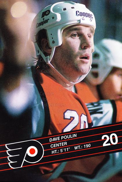 1989-90 Philadelphia Flyers Postcards #19 Dave Poulin<br/>3 In Stock - $3.00 each - <a href=https://centericecollectibles.foxycart.com/cart?name=1989-90%20Philadelphia%20Flyers%20Postcards%20%2319%20Dave%20Poulin...&quantity_max=3&price=$3.00&code=227128 class=foxycart> Buy it now! </a>
