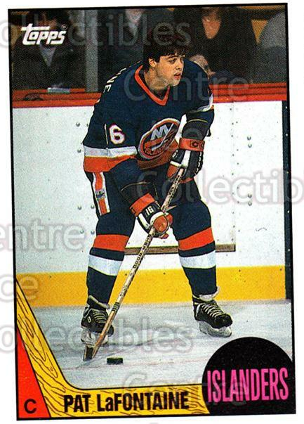 1987-88 Topps #173 Pat LaFontaine<br/>5 In Stock - $2.00 each - <a href=https://centericecollectibles.foxycart.com/cart?name=1987-88%20Topps%20%23173%20Pat%20LaFontaine...&quantity_max=5&price=$2.00&code=22712 class=foxycart> Buy it now! </a>