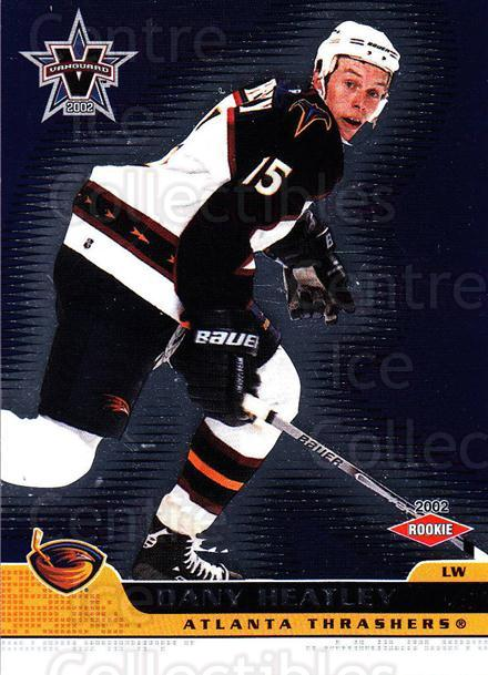 2001-02 Vanguard #3 Dany Heatley<br/>6 In Stock - $1.00 each - <a href=https://centericecollectibles.foxycart.com/cart?name=2001-02%20Vanguard%20%233%20Dany%20Heatley...&quantity_max=6&price=$1.00&code=227179 class=foxycart> Buy it now! </a>