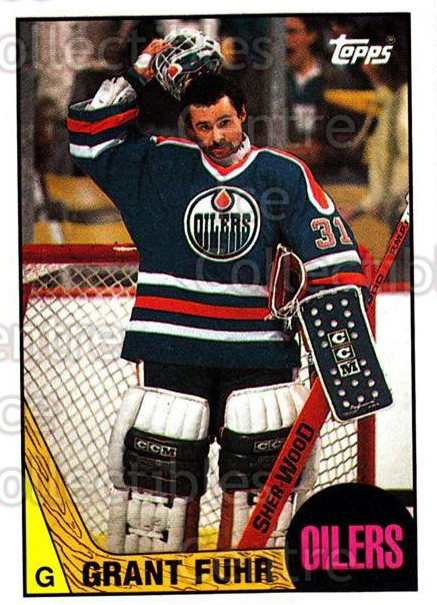 1987-88 Topps #178 Grant Fuhr<br/>4 In Stock - $2.00 each - <a href=https://centericecollectibles.foxycart.com/cart?name=1987-88%20Topps%20%23178%20Grant%20Fuhr...&quantity_max=4&price=$2.00&code=22717 class=foxycart> Buy it now! </a>