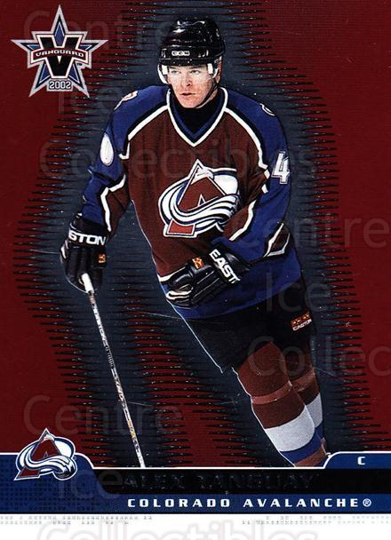 2001-02 Vanguard #28 Alex Tanguay<br/>6 In Stock - $1.00 each - <a href=https://centericecollectibles.foxycart.com/cart?name=2001-02%20Vanguard%20%2328%20Alex%20Tanguay...&quantity_max=6&price=$1.00&code=227185 class=foxycart> Buy it now! </a>