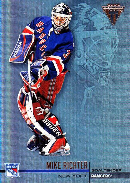 2001-02 Titanium #96 Mike Richter<br/>4 In Stock - $1.00 each - <a href=https://centericecollectibles.foxycart.com/cart?name=2001-02%20Titanium%20%2396%20Mike%20Richter...&quantity_max=4&price=$1.00&code=227230 class=foxycart> Buy it now! </a>