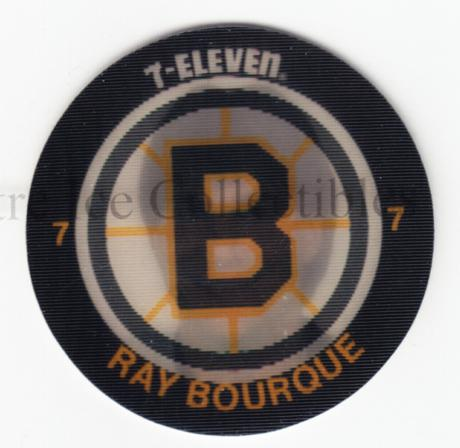 1984-85 7-Eleven Discs 7-11 #1 Ray Bourque<br/>1 In Stock - $5.00 each - <a href=https://centericecollectibles.foxycart.com/cart?name=1984-85%207-Eleven%20Discs%207-11%20%231%20Ray%20Bourque...&quantity_max=1&price=$5.00&code=227249 class=foxycart> Buy it now! </a>