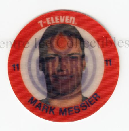 1984-85 7-Eleven Discs 7-11 #20 Mark Messier<br/>1 In Stock - $3.00 each - <a href=https://centericecollectibles.foxycart.com/cart?name=1984-85%207-Eleven%20Discs%207-11%20%2320%20Mark%20Messier...&quantity_max=1&price=$3.00&code=227252 class=foxycart> Buy it now! </a>
