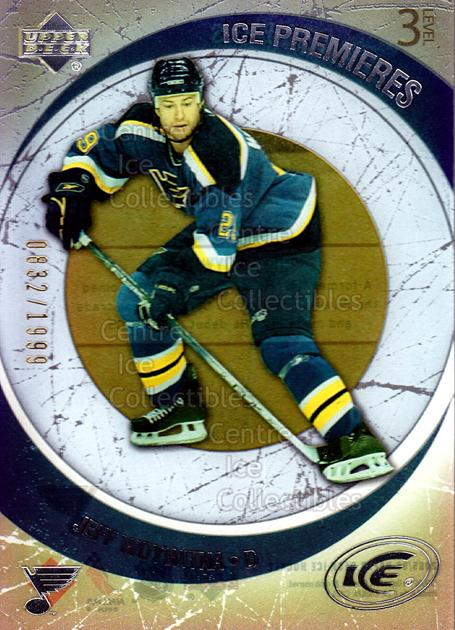 2005-06 UD Ice #142 Jeff Woywitka<br/>3 In Stock - $3.00 each - <a href=https://centericecollectibles.foxycart.com/cart?name=2005-06%20UD%20Ice%20%23142%20Jeff%20Woywitka...&price=$3.00&code=227290 class=foxycart> Buy it now! </a>