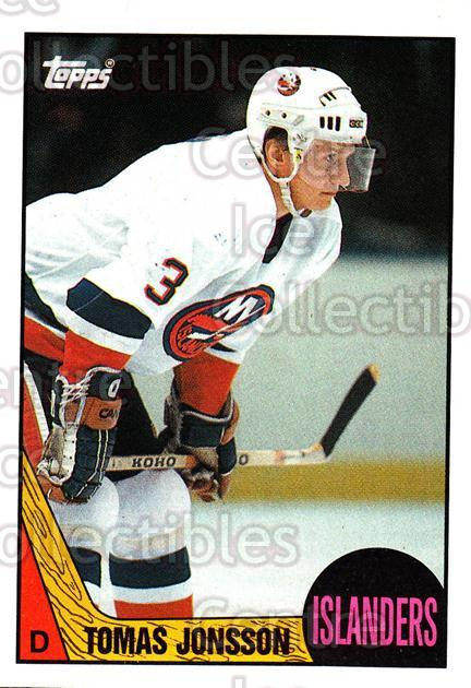 1987-88 Topps #190 Tomas Jonsson<br/>5 In Stock - $1.00 each - <a href=https://centericecollectibles.foxycart.com/cart?name=1987-88%20Topps%20%23190%20Tomas%20Jonsson...&quantity_max=5&price=$1.00&code=22731 class=foxycart> Buy it now! </a>