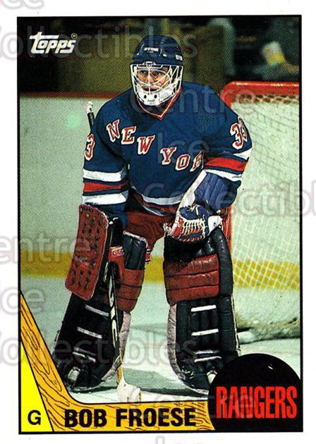1987-88 Topps #195 Bob Froese<br/>5 In Stock - $1.00 each - <a href=https://centericecollectibles.foxycart.com/cart?name=1987-88%20Topps%20%23195%20Bob%20Froese...&quantity_max=5&price=$1.00&code=22735 class=foxycart> Buy it now! </a>