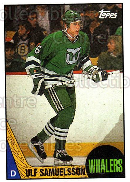 1987-88 Topps #23 Ulf Samuelsson<br/>2 In Stock - $1.00 each - <a href=https://centericecollectibles.foxycart.com/cart?name=1987-88%20Topps%20%2323%20Ulf%20Samuelsson...&quantity_max=2&price=$1.00&code=22742 class=foxycart> Buy it now! </a>