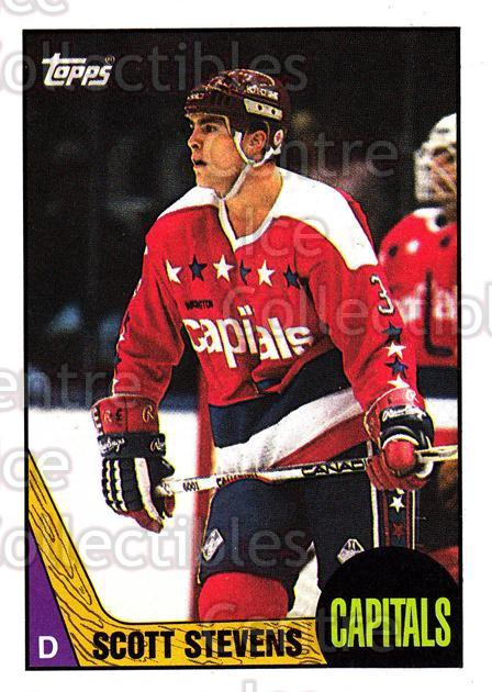 1987-88 Topps #25 Scott Stevens<br/>4 In Stock - $2.00 each - <a href=https://centericecollectibles.foxycart.com/cart?name=1987-88%20Topps%20%2325%20Scott%20Stevens...&quantity_max=4&price=$2.00&code=22744 class=foxycart> Buy it now! </a>