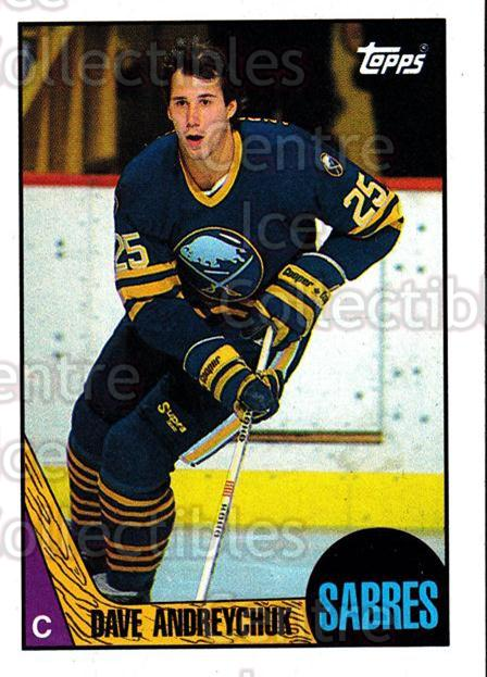 1987-88 Topps #3 Dave Andreychuk<br/>5 In Stock - $1.00 each - <a href=https://centericecollectibles.foxycart.com/cart?name=1987-88%20Topps%20%233%20Dave%20Andreychuk...&quantity_max=5&price=$1.00&code=22749 class=foxycart> Buy it now! </a>