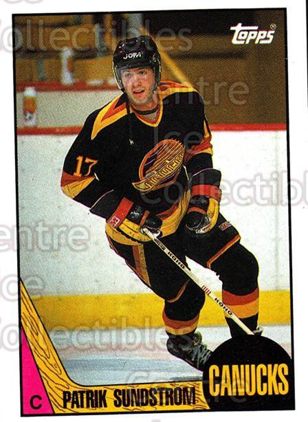 1987-88 Topps #34 Patrik Sundstrom<br/>6 In Stock - $1.00 each - <a href=https://centericecollectibles.foxycart.com/cart?name=1987-88%20Topps%20%2334%20Patrik%20Sundstro...&quantity_max=6&price=$1.00&code=22754 class=foxycart> Buy it now! </a>