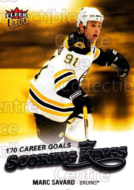 2008-09 Ultra Scoring Kings #9 Marc Savard<br/>4 In Stock - $2.00 each - <a href=https://centericecollectibles.foxycart.com/cart?name=2008-09%20Ultra%20Scoring%20Kings%20%239%20Marc%20Savard...&quantity_max=4&price=$2.00&code=227621 class=foxycart> Buy it now! </a>