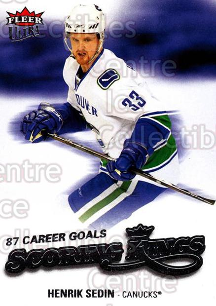 2008-09 Ultra Scoring Kings #10 Henrik Sedin<br/>4 In Stock - $2.00 each - <a href=https://centericecollectibles.foxycart.com/cart?name=2008-09%20Ultra%20Scoring%20Kings%20%2310%20Henrik%20Sedin...&quantity_max=4&price=$2.00&code=227622 class=foxycart> Buy it now! </a>