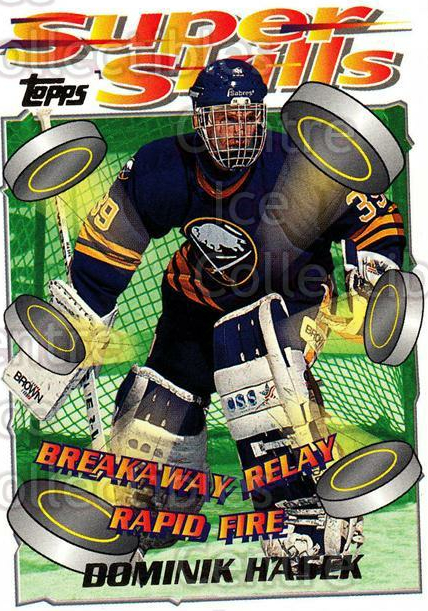 1995-96 Topps Super Skills #75 Dominik Hasek<br/>6 In Stock - $2.00 each - <a href=https://centericecollectibles.foxycart.com/cart?name=1995-96%20Topps%20Super%20Skills%20%2375%20Dominik%20Hasek...&quantity_max=6&price=$2.00&code=227735 class=foxycart> Buy it now! </a>