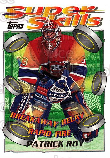 1995-96 Topps Super Skills #81 Patrick Roy<br/>3 In Stock - $3.00 each - <a href=https://centericecollectibles.foxycart.com/cart?name=1995-96%20Topps%20Super%20Skills%20%2381%20Patrick%20Roy...&quantity_max=3&price=$3.00&code=227738 class=foxycart> Buy it now! </a>