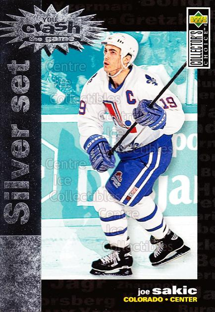 1995-96 Collectors Choice Crash the Game Silver Redeemed #9 Joe Sakic<br/>12 In Stock - $1.00 each - <a href=https://centericecollectibles.foxycart.com/cart?name=1995-96%20Collectors%20Choice%20Crash%20the%20Game%20Silver%20Redeemed%20%239%20Joe%20Sakic...&price=$1.00&code=227745 class=foxycart> Buy it now! </a>