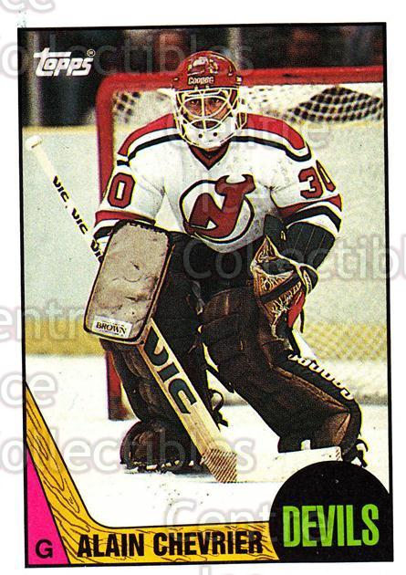 1987-88 Topps #58 Alain Chevrier<br/>5 In Stock - $1.00 each - <a href=https://centericecollectibles.foxycart.com/cart?name=1987-88%20Topps%20%2358%20Alain%20Chevrier...&quantity_max=5&price=$1.00&code=22777 class=foxycart> Buy it now! </a>