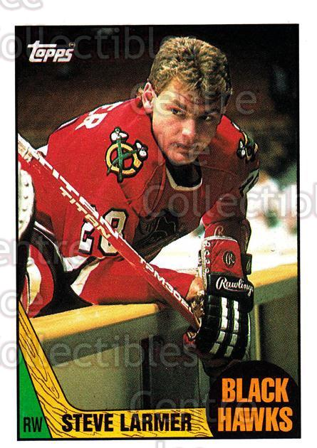 1987-88 Topps #59 Steve Larmer<br/>5 In Stock - $1.00 each - <a href=https://centericecollectibles.foxycart.com/cart?name=1987-88%20Topps%20%2359%20Steve%20Larmer...&quantity_max=5&price=$1.00&code=22778 class=foxycart> Buy it now! </a>
