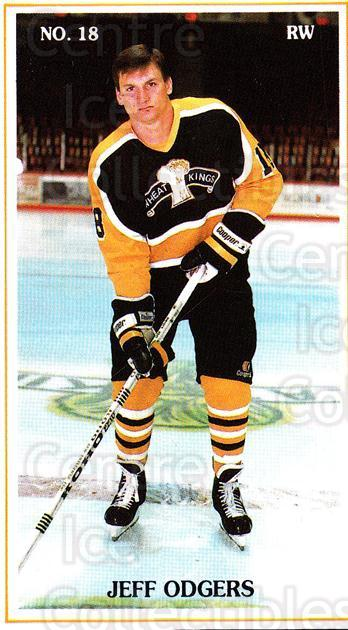 1988-89 Brandon Wheat Kings #12 Jeff Odgers<br/>4 In Stock - $3.00 each - <a href=https://centericecollectibles.foxycart.com/cart?name=1988-89%20Brandon%20Wheat%20Kings%20%2312%20Jeff%20Odgers...&quantity_max=4&price=$3.00&code=22827 class=foxycart> Buy it now! </a>