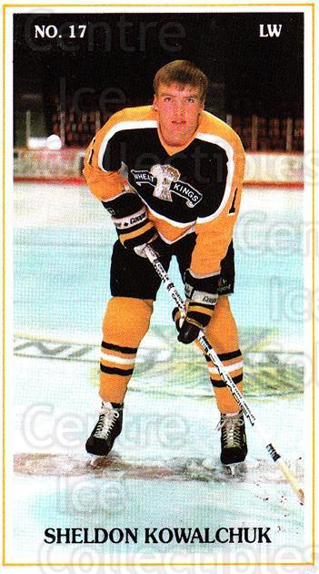 1988-89 Brandon Wheat Kings #13 Sheldon Kowalchuk<br/>4 In Stock - $3.00 each - <a href=https://centericecollectibles.foxycart.com/cart?name=1988-89%20Brandon%20Wheat%20Kings%20%2313%20Sheldon%20Kowalch...&quantity_max=4&price=$3.00&code=22828 class=foxycart> Buy it now! </a>