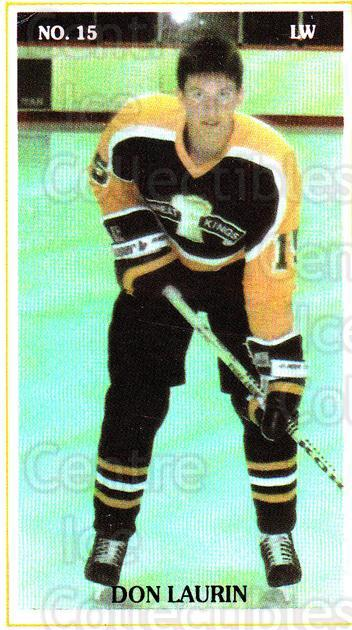 1988-89 Brandon Wheat Kings #15 Don Laurin<br/>5 In Stock - $3.00 each - <a href=https://centericecollectibles.foxycart.com/cart?name=1988-89%20Brandon%20Wheat%20Kings%20%2315%20Don%20Laurin...&quantity_max=5&price=$3.00&code=22830 class=foxycart> Buy it now! </a>