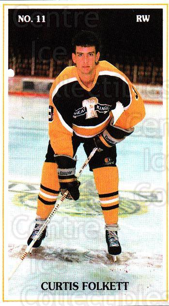 1988-89 Brandon Wheat Kings #16 Curtis Folkett<br/>4 In Stock - $3.00 each - <a href=https://centericecollectibles.foxycart.com/cart?name=1988-89%20Brandon%20Wheat%20Kings%20%2316%20Curtis%20Folkett...&quantity_max=4&price=$3.00&code=22831 class=foxycart> Buy it now! </a>