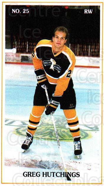 1988-89 Brandon Wheat Kings #24 Greg Hutchings<br/>2 In Stock - $3.00 each - <a href=https://centericecollectibles.foxycart.com/cart?name=1988-89%20Brandon%20Wheat%20Kings%20%2324%20Greg%20Hutchings...&quantity_max=2&price=$3.00&code=22836 class=foxycart> Buy it now! </a>
