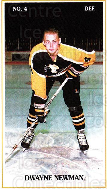 1988-89 Brandon Wheat Kings #3 Dwayne Newman<br/>4 In Stock - $3.00 each - <a href=https://centericecollectibles.foxycart.com/cart?name=1988-89%20Brandon%20Wheat%20Kings%20%233%20Dwayne%20Newman...&quantity_max=4&price=$3.00&code=22837 class=foxycart> Buy it now! </a>
