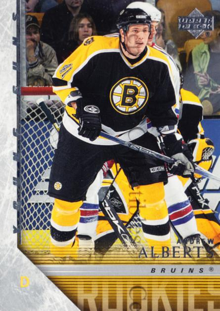 2005-06 Upper Deck #225 Andrew Alberts<br/>5 In Stock - $5.00 each - <a href=https://centericecollectibles.foxycart.com/cart?name=2005-06%20Upper%20Deck%20%23225%20Andrew%20Alberts...&quantity_max=5&price=$5.00&code=228457 class=foxycart> Buy it now! </a>