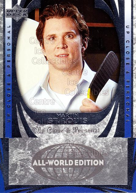 2004-05 UD All World #103 Martin St. Louis<br/>7 In Stock - $2.00 each - <a href=https://centericecollectibles.foxycart.com/cart?name=2004-05%20UD%20All%20World%20%23103%20Martin%20St.%20Loui...&quantity_max=7&price=$2.00&code=228501 class=foxycart> Buy it now! </a>