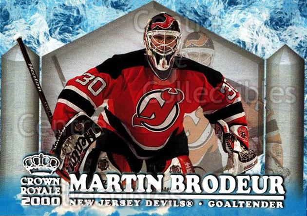 1999-00 Crown Royale Ice Elite #16 Martin Brodeur<br/>1 In Stock - $3.00 each - <a href=https://centericecollectibles.foxycart.com/cart?name=1999-00%20Crown%20Royale%20Ice%20Elite%20%2316%20Martin%20Brodeur...&quantity_max=1&price=$3.00&code=228549 class=foxycart> Buy it now! </a>