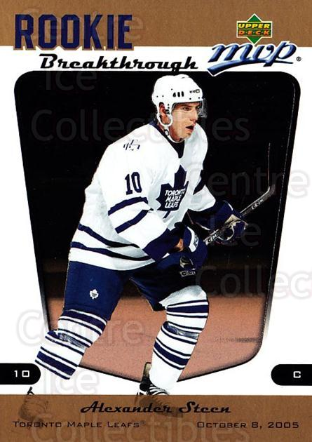 2005-06 Upper Deck MVP Rookie Breakthrough #10 Alexander Steen<br/>5 In Stock - $2.00 each - <a href=https://centericecollectibles.foxycart.com/cart?name=2005-06%20Upper%20Deck%20MVP%20Rookie%20Breakthrough%20%2310%20Alexander%20Steen...&quantity_max=5&price=$2.00&code=228640 class=foxycart> Buy it now! </a>